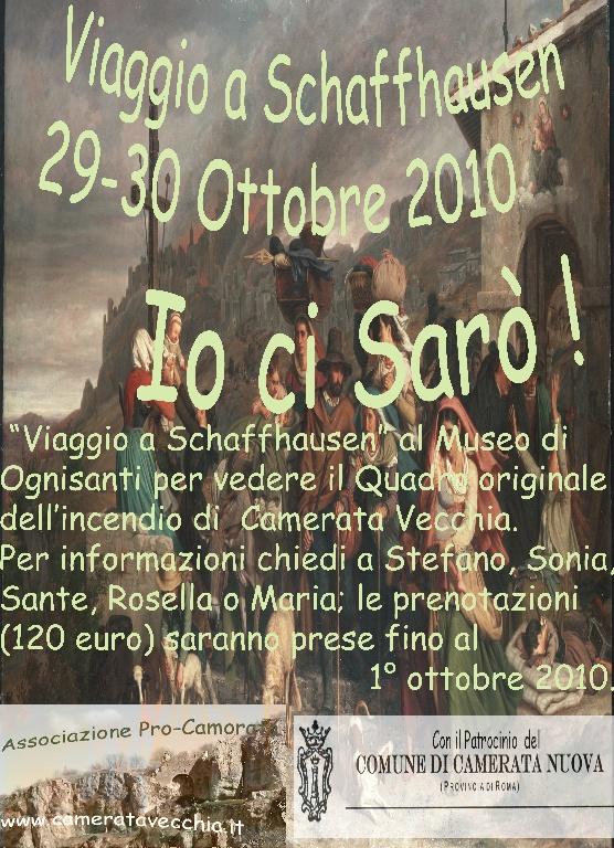 Viaggio a Schaffhausen 29 e 30 ottobre 2010